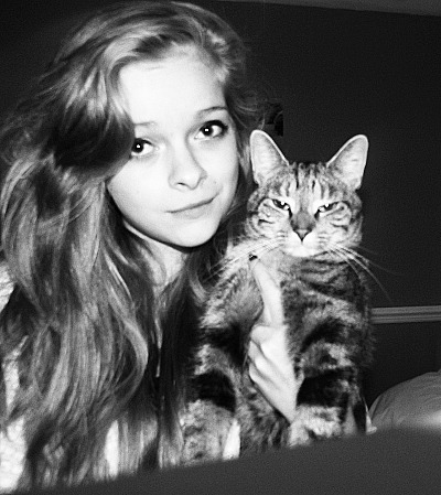 This is me and one of my cats, Dolly! :D