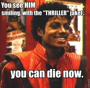 I watched Thriller on Michael's B-day!
