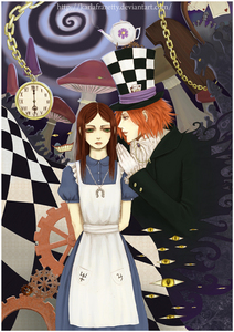 I cinta alot of the pics I have and I mean alot! But this one is one of my favorites. It's Alice in Wonderland but not the same version we have all grown to love.This is fan art based on a computer game called American McGee's Alice look it up if anda want but dont call me creepy because I like this version...it's lebih twisted than usual...