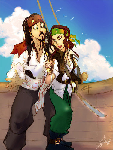 Me and Captain Sparrow