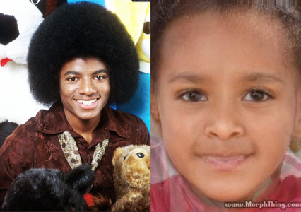 AWWWW It's adorable! ;D LOL What MJ pic did Ты use? For my секунда one I used this pic of MJ and this is the baby I got... and I did the one where it makes an adult, not a baby, and it has MJs eyes & eyebrows, a mixture of our nose, and my smile... it's so weird =P