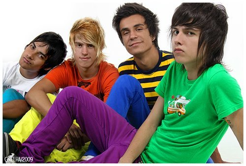 "I don't think the قوس قزح is gay... Maybe, being too colorful is gay, because the gay pride flag is colofull. Here in my country, if آپ are a ""colored guy/girl"" آپ are gay and mindless. This just started because of a band called Restart, which dress a lots of colors togheter... Here's a pic of them. In my opinion they are ridiculous not gay."