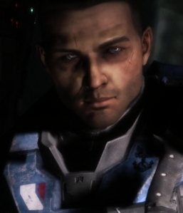 Carter from Halo Reach and David Tennant. There's Carter! <3