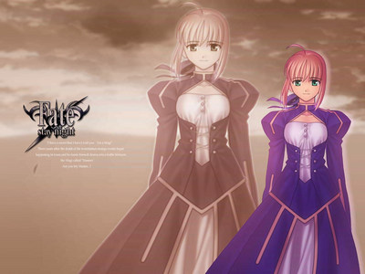 saber from fate/stay night she's so kawaii oh i really amor saber..