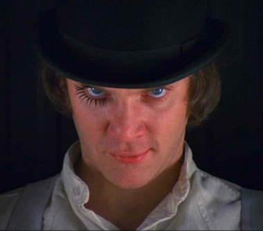 Alex Delarge from the 1972 movie A Clockwork kahel