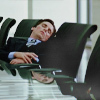 "Bruce Wayne (aka ""Batman"") sleeping on a business meeting on the movie ""The Dark Knight""."