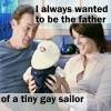 My icon is Dr. Cox and Jordon with their son Jack in a sailors outfit from the ipakita Scrubs.