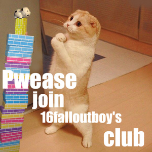Oh nothing, just making some changes in my club, which btw, could te join? http://www.fanpop.com/spots/16falloutboy Btw how are you?