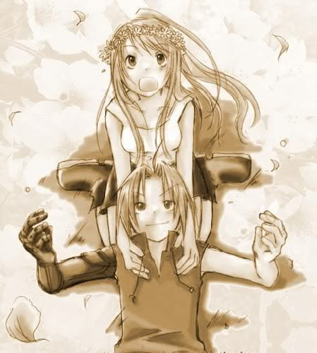 Edward Elric and Winry Rockbell from FullMetal Alchemist <3333