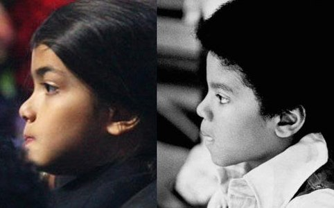 Aw don't feel bad. I know MJ's kids are his. Cuase I've been looking at a lot of Видео of Youtube were people put фото of them Далее to Michael and they look exactly the same. People say they're not his kids just beacause they aren't black? There are cases that children are white and the parents are black. PLUS, Debbie is blonde with blue eyes so is Joe (Well he's only got blue eyes) That's were Paris got them from. Paris also has Katherine's lips and the way she stares. Blanket is just a minnie Michael. Prince isn't black but he has almost Michael's nose (Jackson five era) and mouth. And he has the same expression! <3 Just look at this pic below, they do look alike. No doubt. :D