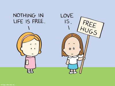 Because........ it's free hugs day!! Yayyy!!!