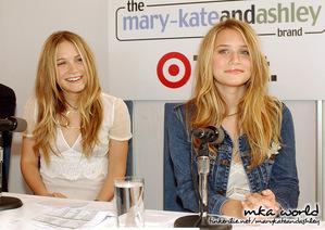 Target launch of mary-kateandashley brand in Sydney 2003