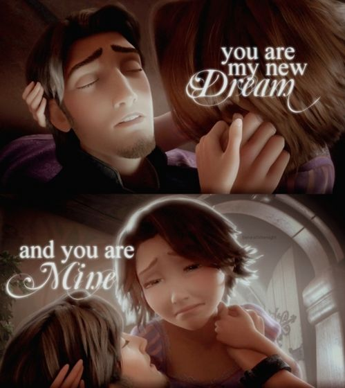 I love how Eugene protected Rapunzel and sort of died in the end. T:T