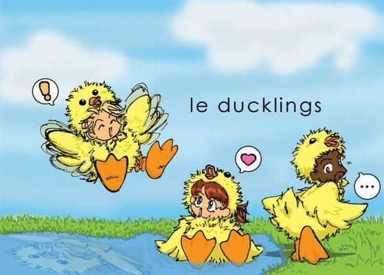 "#1 oben, nach oben rated Fan art ""Le Ducklings"" Von EverybodyLies"