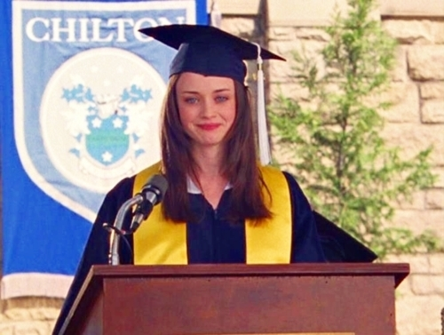 Rory's graduations speech! I know it's long, but I just adore it!