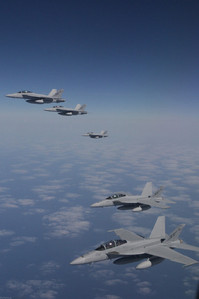 The fleet of F-18's that humphrey and the others were flying