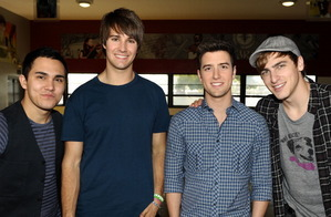 Big Time Rush (L-R): Carlos Pena, James Maslow, Logan Henderson, Kendall Schmidt