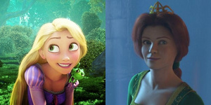 Rapunzel is beautiful, Fiona is plain.
