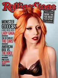 Lady GaGa on the cover of the June issue of Rolling Stone Magazine