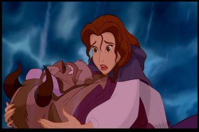 Belle mourning over Beast.
