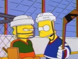 Lisa and Bart size eachother up in 'Lisa on ice'
