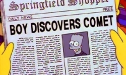 Bart's claim to fame in 'Bart's comet'