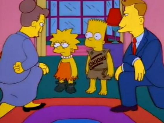 'Neglected' bart and Lisa.