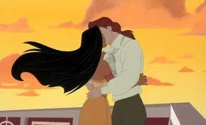 """This kiss,"" Pocahontas thought. ""It's nothing like the किस of John Smith. He kissed me with such passion and love."""