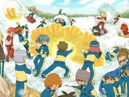 Haha....Inazuma জাপান VS Aliens Academy-Snow Ball Fight
