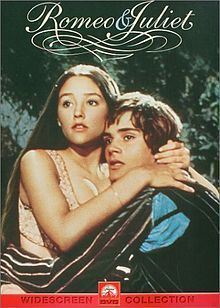 """DVD Cover of the 1968 """"Romeo and Juliet"""" film."""