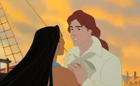 He grabbed her other hand and held onto them tightly, which only made it harder for Pocahontas.