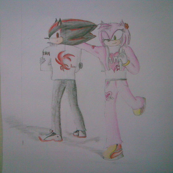 shadow and amy in daian (it won't be like that , amy loves sonic but that is a part of the story)