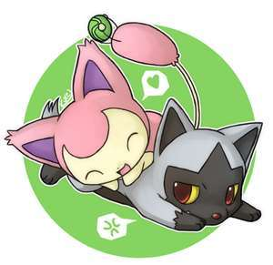 A playful Skitty Playing With a Poochneya