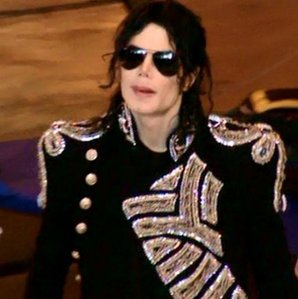 MJ rocking a Balmain koti, jacket