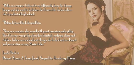 Vampyress Bella Cullen in Russet Noon