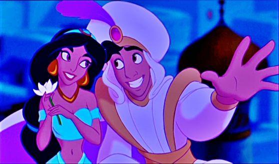 Princess Jasmine and Aladdin as Prince Ali