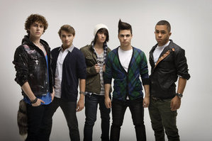 The members of Midnight Red from left to right: Eric, Colton, Anthony, Thomas, Joey