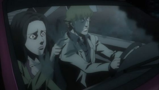 """The young couple noticing Kappa footprints inside their car from episode """"What Lives In The Lake"""""""