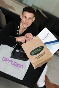 Philippe Ashfield celebrates win with shopping spree!