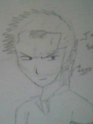 Roronoa Zoro the Kuso Marimo..It bit blur..from One Piece