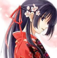 I put on a кимоно and tied a bit of my hair