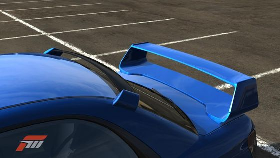 Roof and rear spoilers