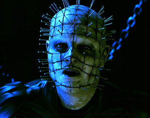 The new Pinhead, the only god actor in the film.