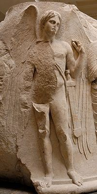 Statue of Thanatos from the temple of Artemis at Ephyus