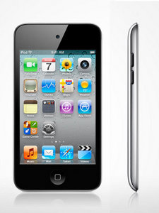 iPod Touch, supports apps for iPhone when connected to Wifi (and sometimes, even without Wifi!)