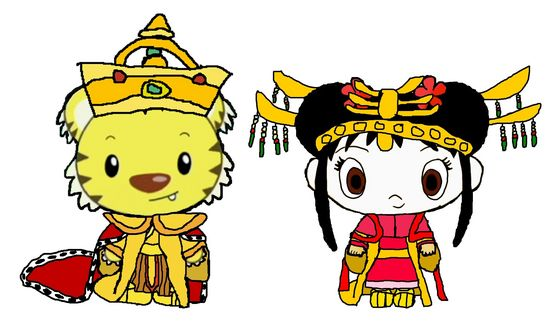 Emperor Rintoo and Empress Kai-Lan - Wedding Outfits