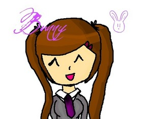 (Newer)Bunny wearing the school uniform ^^