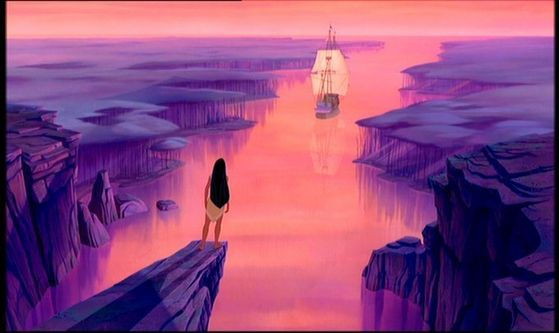 """""""I 爱情 the Heartbreaking Goodbye. It shows how powerful and strong John's and Pocahontas' relationship really is. Even though the two go their separate ways, they will remain in each other's hearts forever."""" - ppgbelle4"""