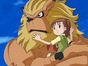 Leomon's quick and effective way of transporting Jeri from place to place