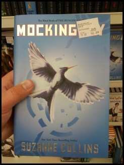picture is not mines. i did not take it. But this is the picture of mockingjay being sold at walmart.